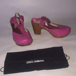 Dolce & Gabbana Patent Hot Pink Shoes EU 35 US 5